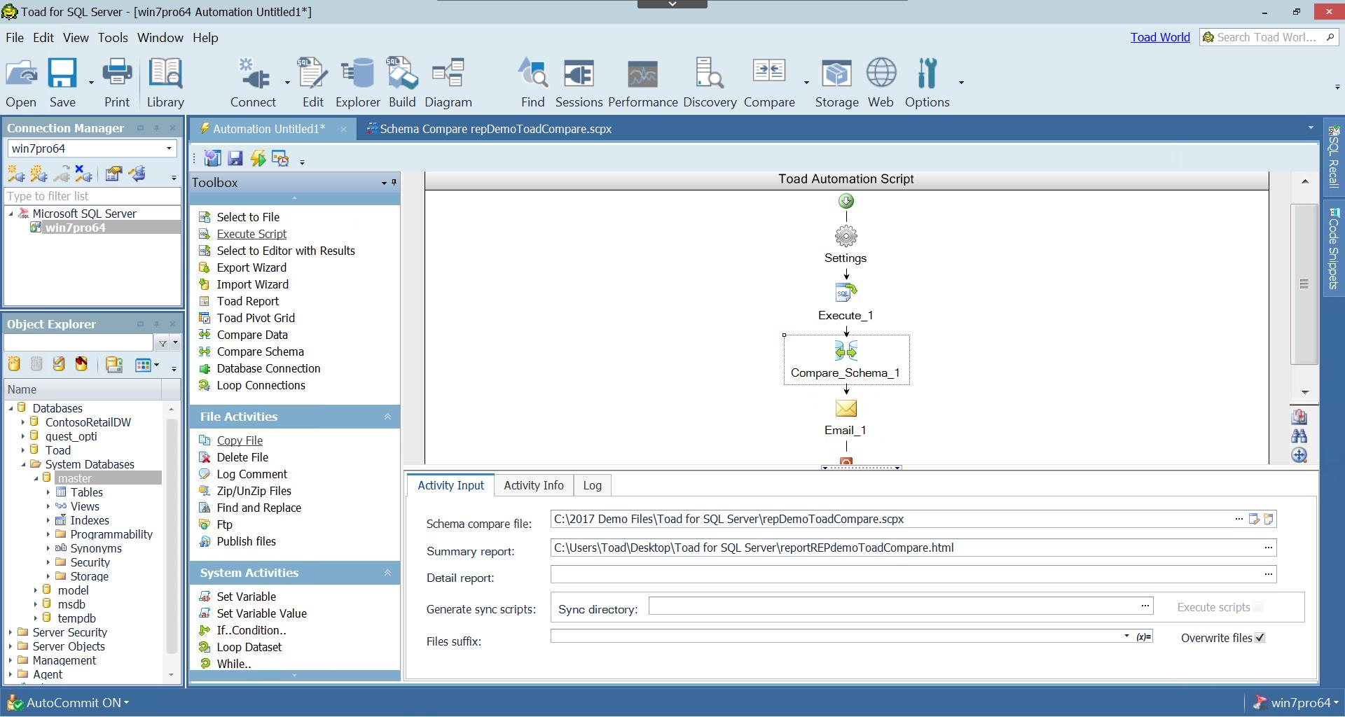 Toad 174 For Sql Server Sql Server Database Management